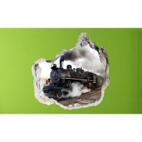 3D fototapeta, Lokomotiva, 100 x100cm