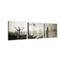 3 dielne obrazové hodiny, Benátky, 35x105cm