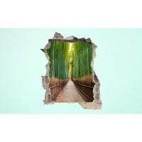 3D fototapeta, Bambusový les, 100 x120cm
