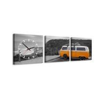 3 dielne obrazové hodiny, Karaván, 35x105cm