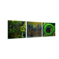 3 dielne obrazové hodiny, Príroda, 35x105cm