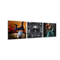 3 dielne obrazové hodiny, Music, 35x105cm