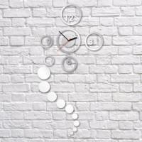 Nalepovacie nástenné hodiny, Kruhy, 40x82cm