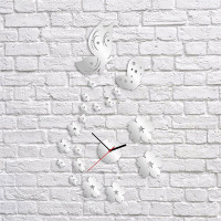Nalepovacie nástenné hodiny, Motýle, 38x65cm