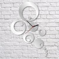Nalepovacie nástenné hodiny, Kruhy Peafowl, 35x52cm