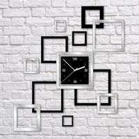 Nalepovacie nástenné hodiny, Rámiky, 55x62cm