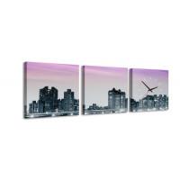 3 dielne obrazové hodiny, New York, 35x105cm