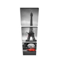 3 dielne obrazové hodiny, Paris, 35x105cm