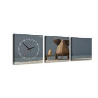 3 dielne obrazové hodiny, Priatelia, 35x105cm