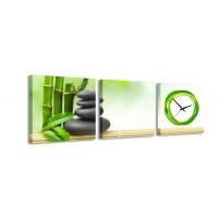3 dielne obrazové hodiny, Natur 2, 35x105cm