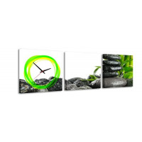 3 dielne obrazové hodiny Zen, 35x105cm