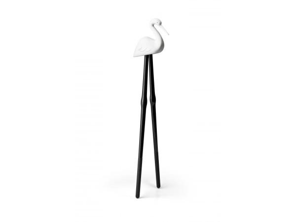Jedálenské paličky Qualy Master Crane, biele
