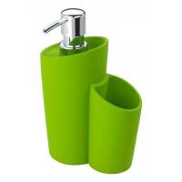 Dávkovač mydla Wenko, Soft, zelený svetlý
