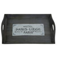 """Drevený podnos """"Hotel Paris-Liege"""" 47cm"""