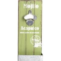 Nástenný otvárač fliaš, Mojito