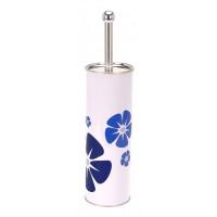 Nerezová WC kefa, Kvety, modrá