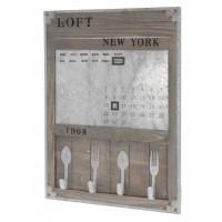 """Nostalgická tabuľa s kalendárom  """"NEW YORK 1968"""""""