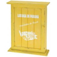 Nostalgická skrinka na kľúče, žltá, Brasil