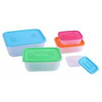 10-dielná sada dóz / úložné boxy s vrchnákmi, Quant, farebná