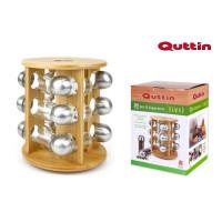 Bambusový stojan na koreničky Quittin otočný 13-dielný