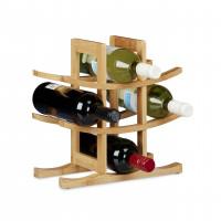 Bambusový stojan na víno na 9 fliaš, RD0245
