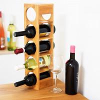 Bambusový stojan na víno na 5 fliaš, RD0332