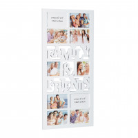 Fotorám Family and Friends na 10 fotiek, biely, 75x35cm