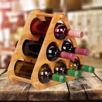 Bambusový stojan na víno na 6 fliaš, RD8816
