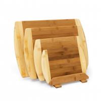 Bambusové dosky na krájanie so stojanom, sada 4ks, RD9154