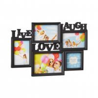 Čierny fotorámik Live-Laugh-Love, 46x32cm RD9999