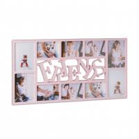 Fotorám Friends na 10 fotiek rd1862, ružový, 72x36cm