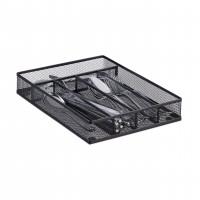 Príborníky do zásuvky kovový, čierny, M rd2512