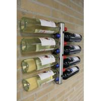 Nerezový držiak na fľaše na stenu na 12 fliaš