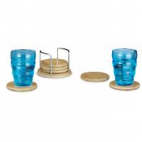 Podložky pod poháre, 7-diený, Bamboo, RD0256