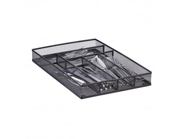 Príborníky do zásuvky kovový, čierny, rd2513