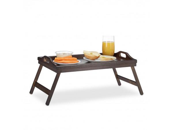 Stolík na raňajky do postele, Bamboo / tmavohnedý RD3233
