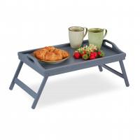 Stolík na raňajky do postele, Bamboo šedý RD6123