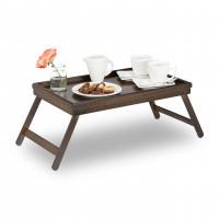 Stolík na raňajky do postele, Bamboo / tmavohnedý RD3235