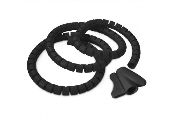 Špirálová trubica pre vedenie káblov RD8867 1,5 m, čierna