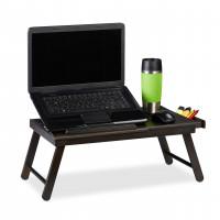 Stolík na notebook do postele Bambusový hnedý, RD3243
