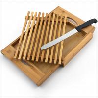 Bambusová doska na krájanie s priehradkou na nôž, RD5328