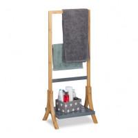 Bambusový stojan na uteráky s policou RD4982