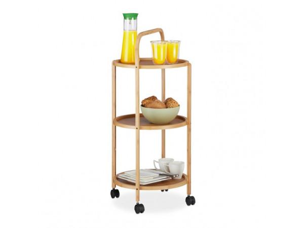 Kuchynský servírovací vozík RD6506, bambus