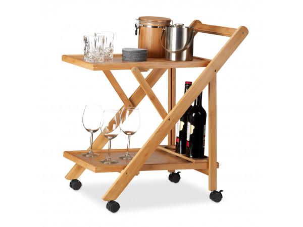 Kuchynský servírovací vozík RD2164, bambus