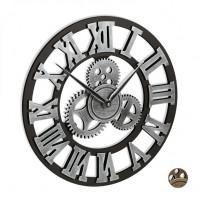 Nástenné hodiny s ozubenými kolieskami RD7636, 40 cm, strieborná