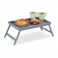 Stolík na raňajky do postele, Bamboo šedý RD6130