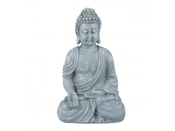 Soška sediaci Buddha, RD5657 18 cm, sivá