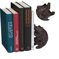 Liatinová knižná zarážka ježko RD6401, čierna