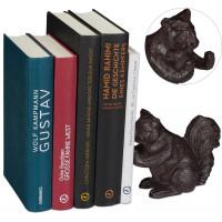 Liatinová knižná zarážka veverička RD6401, čierna