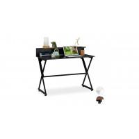 Písací stolík s policou RD6055, čierny 110 cm